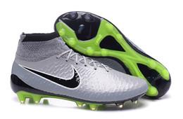Wholesale Nike Nike Magista Obra FG TPU Charcoal gray Shoes Soccer Boots Cleats Laser original shoes Soccer Shoes Football Shoes size