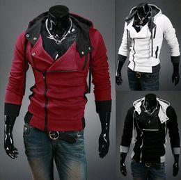 Men's Clothing High quality Hoodies 2015 top Men's Hoodies Sweatshirts oblique zipper hooded Fashion sports hoodies