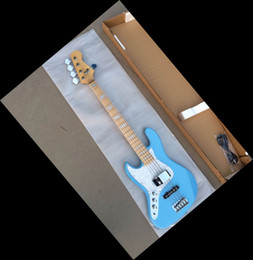 New China Guitar Electric Bass Left Handed In Blue 141001