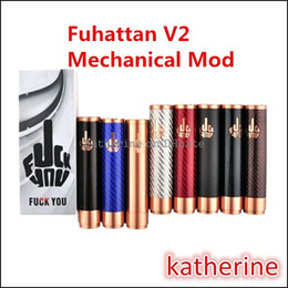 V2 fuhattan en Ligne-Fuhattan V2 Mod Fibre de carbone 8 couleurs Fuhattan 2.0 Fuckyou Mod 510 Fit Freakshow Little Boy RDA Le Troll Royal Hunter RDA Atomiseurs