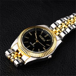 Wholesale Hot sale OEM Brand Gold Plated Stainless Steel fashion Janpan Quartz Movement Mens Wrist Watch for Man