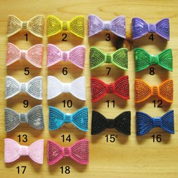 2 inch sequins ribbon Bows DIY Baby Bowknot hair Elastic bobbles bow hairband Hair Accessories kids D664J