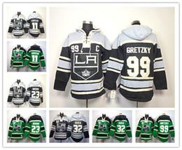 Factory Outlet, Cheap Los Angeles Kings Hockey Hoodie Jersey 11 Anze Kopitar 23 Dustin Brown 32 Jonathan Quick 99 Wayne Gretzky Hoody Sweats