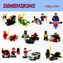 Wholesale Christmas Gift New Ninja Super Hero Avengers Cole Kai Superman Aquaman Joker Gimbit mini figures building blocks
