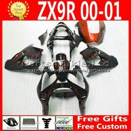 7gifts ABS fairings kits for Kawasaki Ninja zx 9r 2000 2001 ZX9R 00 01 ZX-9R flame motorcycle body fairing body kits 2RT