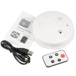Wholesale Smoke Detector Detection Model Hidden Spy Camera DVR Camcorder DV Remote White HD Smoke DVR