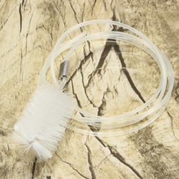 Tubo de la manguera de plástico transparente en venta-2015 Nueva plástico transparente T Tubo filtro del acuario Hose Pipe Cepillo de limpieza Limpiador Usseful Hose Pipe Cepillo de limpieza para Cleaner pista $ 18Nadie