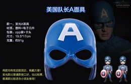 Acheter en ligne Plastique américain-Movie Cosplay Captain American Lighting Half Face Masque en plastique pour adultes Meilleures décorations cadeaux pour fête Halloween Bar Anniversaire