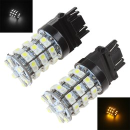 Wholesale 1 pair of V SMD LED White Yellow Dual Color Car Light Brake Turn Signal Lamp CLT_099