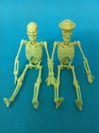Wholesale 20cm human anatomy skeleton odontologia skull anatomica Model brain Skin in trauma amplified box with denture teeth for sale