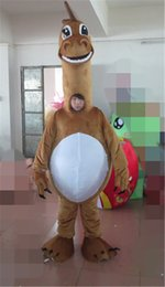 Wholesale Real Pictures Deluxe Dinosaur Mascot Costume Christmas Party Children Fancy Dress Factory Direct Animal Brown Dinosaur Mascot