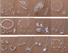 Free Shipping with tracking number New Fashion women's charming jewelry 925 silver 12 mix jewelry set 1459