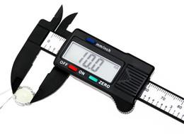 Wholesale 150mm inch Digital Electronic Carbon Fiber Vernier Calipers LCD Plastic Caliper Gauge Micrometer Ruler T0009