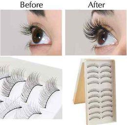 Wholesale False Eyelash Pairs Black Fashion Beauty Makeup Handmade False Natural Long Eyelash Soft Long Makeup Eye Lash Extension False Eyelash