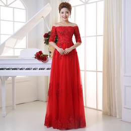 Shanghai Story Bateau Lace Formal Evening Dress Luxury Party Birthday Dress Off Shoulder Lace Toast Clothing Occasion Dresses LF300