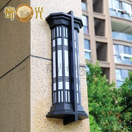 Wholesale Stainless steel artificial imitation marble lamps translucent stone outdoor wall lights European landscape lighting W8615