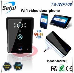 Wholesale New Wifi video door phones door bell intercom systems App can be run in Android and IOS devices Door bell DHL