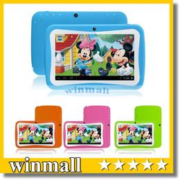 Wholesale 7 inch Quad Core Children Kids Tablet PC RK3126 MB GB Android Children Educational Apps Christmas best gift