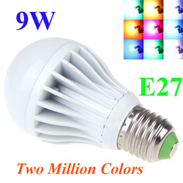 E27 High Power LED Multi Color Change RGB Color Light Led Bulb Lamp Remote Control Spotlight Two Million Colors 9W