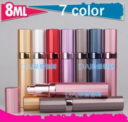 7 colors 8ml empty refillable perfume bottle,fragrance bottle aluminum perfume bottles, aluminum spray atomizer Home Fragrances