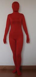 adult unisex lycra spandex red zentai morph suit costume