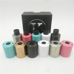 Wholesale Mini Kennedy V2 RDA Kit Rebuildable Atomizer with pc Kennedy V2 RDA Outer Barrel Thread Adjustable Airflow Colors