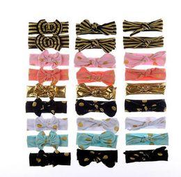 Wholesale 27Colors free Choose Baby Gold Headband Bay Girl Hair Accessories Baby Knot Headband Kids Bow Headbands Children Hair Bands Kids