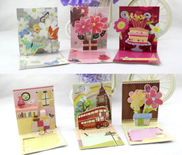 3D 16 types lovely mini greeting cards for birthday praties thanksgiving party supplies message cards free shipping