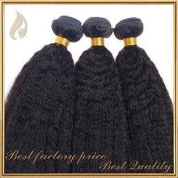 Free shipping top 7A+ mixed 8-28inch kinky straight coarse yaki italian yaki hair weave natural color 100% brazilian virgin human hair weft