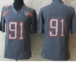 Wholesale 2015 Pro Bowl football jerseys Grey Elite All Star Jerseys Brand Embroidery High Quality Football Shirts Mens Team New Jersey Gear