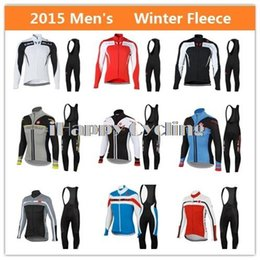 Wholesale-2015 Team Cycling Jerseys   Winter Fleece Bike Racing Long Jersey   Men's Bicycle Riding Clothes