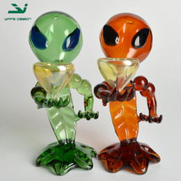 Wholesale Glass Smoking Pipe Alien Glass Factory Direct Sale Price Smoking Pipes Green and Brown Available