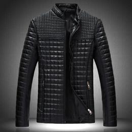 Wholesale Fall New Style Men s Popular Handsome PU Leather Jacket Plus Velvet Warm Black Brown Classical Men Jacket Plus Size M XL MWJ650
