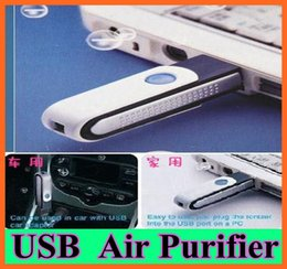 Wholesale Cheapest Portable Mini USB Rotatable Air Purifiers Ionizer USB Oxygen Bar USB Air Cleaner Negative ion air purifier for Car Computer Lap
