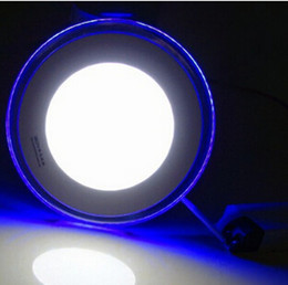 Free Shipping Double color 10W 15W 20W LED Panel Light With Super Bright SMD2835, AC85~265V, Modern LED Ceiling Lights