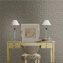 Wholesale Designer Asian style Engineering Lattice textured vinyl wall paper Hotel corridor background decor