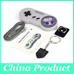 Wholesale 8Bitdo SNES30 Wireless Bluetooth Gamepad Pro Game Controller for iOS Android Gamepad PC Mac Linux Retro Design