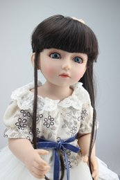 Wholesale Hot sale Royal princess quot BJD SD girl long rooted curl hair baby dolls American girl movable bjd doll with dress and