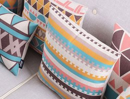 Wholesale Variety Of High Quality Pillow Creative Fashion Cushions Geometric Abstraction Home Linen Cushion