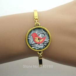 Promotion bijoux de pierres précieuses Image d'oiseau minuscule braceletsbangles style d'été nouvelles femmes de concepteur frais dôme de verre de l'amitié Gem Bijoux