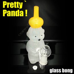 Top Pretty Panda pyrex glass bong glass bongs water pipes oil rigs rig grinder tobacco pipe bubbler ash catcher windproof lighters hookah