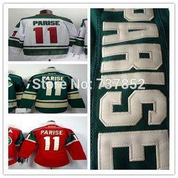 2016 New Cheap Youth Minnesota Wild Jerseys #11 Zach Parise Jersey Red White Green Wholesale Kids Ice Hockey Jerseys Mix Order