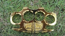 1pcs Hell detective Constantine Brass Knuckle dusters Gold Self-defense Equipment