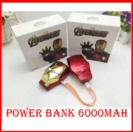 Wholesale 2015 High Quality Cartoon external Battery emergency Iron Man mAh USB power bank charger power bank Marvel Captain America