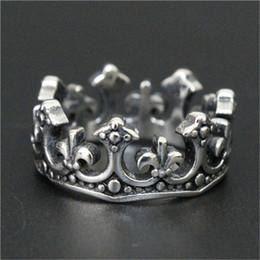 1pc Newest Men Boy Fleur De Lis Crown Ring 16L Stainless Steel Top Selling Popular Cool Crown Ring