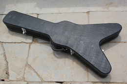 Wholesale 2015 Hot Sale Factory Customized LP Electric Guitar Case Specialized for Flying V Shape Guitar