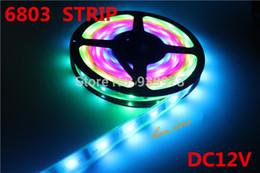 Promotion couleur de rêve magique 5m / lot 6803 IC 5050 Strip RVB numérique, 150LED IP67 étanche tube de rêve Color Magic 12V Led Strip, 30LED / m + livraison gratuite