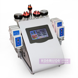 Wholesale Ultrasonic Photon Liposuction Cavitation rf Slimming Weight Loss Body Shaping Machine Lipo Laser Equipment With RF Vacuum for beauty salon