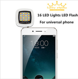 Built-in 16 LED Selfie Flash Light for Camera Phone Fill-in Lights support for Multiple Photography Selfie Using Sync LED Flash