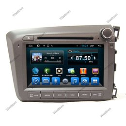Wholesale Double din car gps sat nav radio car dvd player support tpms car info mirror link glonass fit for Honda Civic Right
